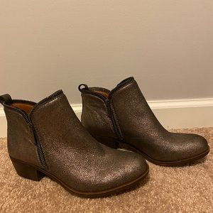 Lucky Brand Shimmery Booties Size 7
